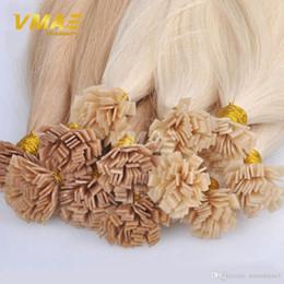 $enCountryForm.capitalKeyWord Australia - Virgin Remy Hair Extensions Straight Flat Tip Keratin Fusion Human Hair Extension Pre Bonded Remi Hair VMAE Extensions