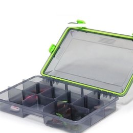Spoon Case NZ - 10PCS Compartments Storage Case Fly Fishing Lure Spoon Hook Bait Tackle Connector Case Fishing Accessories Waterproof Fishing Tackle Boxes
