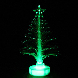 Table Charm Wholesale Australia - New year Christmas LED Color Changing Mini Christmas Tree Home Table Party Decor Charming tree decorations led lights