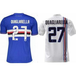 d6bbf2c5a 2018 19 UC Sampdoria Quagliarella 27 soccer jersey camisetas futbol maillot  de foot survetement football kit uniform football shirt