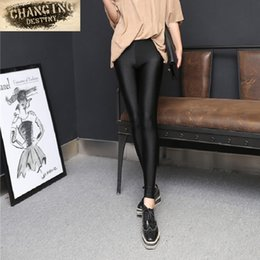 $enCountryForm.capitalKeyWord NZ - 2017 Fashion Spring Autumn Women Leggings Glossy Leggings High Elastic Stovepipe Pants Pants Thin Section