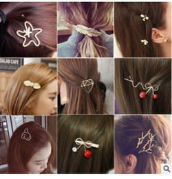 $enCountryForm.capitalKeyWord NZ - Wholesale new Fashion Women Girls all kinds of Hair Clips Metal Circle Hairpins Holder Hair Accessories