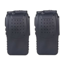H Case Australia - 2PCS Silicone Rubber Cover bumper BF-888S Case for baofeng 888s walkie talkie 888 Retevis H777 H-777 two Way cb Radio Holster