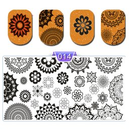 Cartoon Stamping Australia - New Arrival Nail Art Print Stamping Plates Geometry Cartoon Lace Nail Template Beauty Stencil Manicure DIY Styling Tools