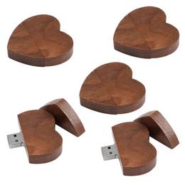 Thumb Flash Drive Australia - 5x Retro Heart Shape USB 2.0 Flash Drive Thumb Jump Drives Memory Sticks 16G