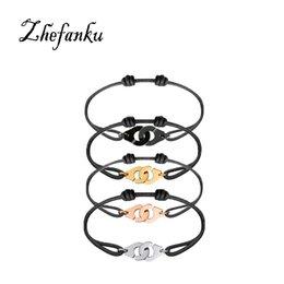 $enCountryForm.capitalKeyWord NZ - 1Pcs Popular Famous Unisex Cool Jewelry Woven Handcuffs Bracelet For Women And Men Rope Bracelet