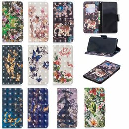 Discount iphone plus case 3d cat - 3D Flower Leather Wallet Case For Iphone XR XS MAX X 10 8 7 Plus 6 6S Galaxy S10 Lite Butterfly Cat Elephant Flamingo Ca