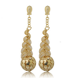 Chinese  Wholesale Fashionable African Beads Jewelry Sets Long Drop Dangle Earrings For Women Nigerian Wedding Bridal Necklace Jewelry manufacturers