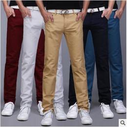 bda870b73f24 2018 New Arrival Men Designer Brand Straight Pants Fashion Casual Slim  Custom Fit Candy Skinny Denim Pencil Jeans H0290