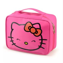 2857ca49a Girl's Hello Kitty Cosmetic Bag Cute Travel Makeup Organizer Case  Beautician Beauty Suitcase Accessories Supplies Products