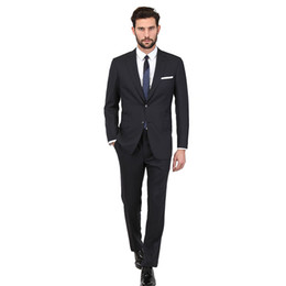 $enCountryForm.capitalKeyWord UK - New 2018 Black Men Suits Skinny Wedding Suits Custom Made Bridegroom Business Slim Fit Simple Formal Tuxedos Blazer Prom Party Jacket+Pants