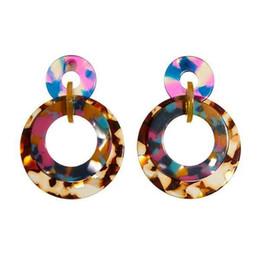 """Discount boho bands - Banded Earrings Jungle Punch 2 1 2"""" D 180914EA01 Dangle Earrings Boho Acrylic Statement"""