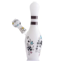 China Flower Bottle glass dab rig Bulid ceramic Thick Glass Water Bongs With 14mm Glass banger Joint Hookahs Smoke For Tobacco cheap ceramic bottles suppliers