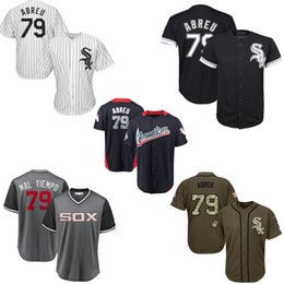 08f876c6fe3 Women White Soxs 79 Jose Abreu Baseball Jerseys Black White Gray Grey Salute  To Service Players Weekend 2018 All Star