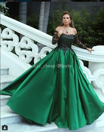 capped sleeve nude bridesmaid dress NZ - Green Lace 2018 Evening Dresses Long Sleeves Sweetheart A-line Taffeta Prom Dresses Cheap Sexy Bridesmaid Formal Party Gowns
