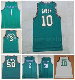1a4465d5fa3 Mens Basetball Jerseys Best Quality  1 Tyrone Muggsy Bogues Jersey Green  3  Shareef Abdur-Rahim Jersey 10 Mike Bibby 50 Bryant Reeves Jersey