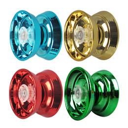 $enCountryForm.capitalKeyWord Australia - 4 Colors Magic Yoyo Responsive High-speed Aluminum Alloy Yo-yo CNC Lathe with Spinning String for Boys Girls Children Kids
