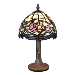 $enCountryForm.capitalKeyWord UK - Tiffany-Style Lamp Stained Glass Table Lamp Hand Crafted Wild Vine Lotus Design Accent Lamp Bedside Table Light