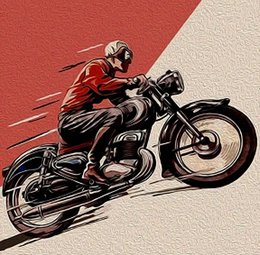 Painted Canvas Cafe Art NZ - vintage Motor bike cafe racer art,High Quality Handpainted &HD Print Modern Abstract Pop Art Oil Painting On Canvas Multi sizes  Frame Ab282