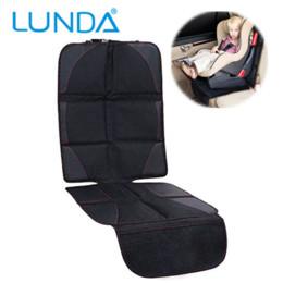 Baby Car Seat Accessories NZ - LUNDA Luxury leather Car Seat Protector Child or baby car seat cover Easy Clean Seat Protector Safety Anti Slip Universal Black