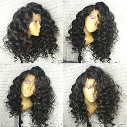 Silk Based Peruvian Wig Australia - Silk Top Lace Front Wigs Deep Wave Deep Curly Glueless Full Lace Human Hair Wigs Silk Base 5*4.5'' Bleached Knot