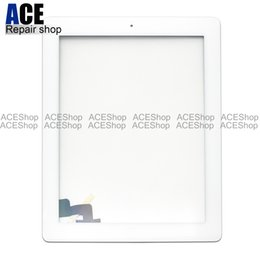 Touch digiTizer glass screen assembly online shopping - ACE for iPad iPad and iPad Touch Screen Glass Panel Digitizer with Buttons Adhesive Assembly Black and White