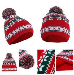 f248d1b8 Christmas Snowflake Knitted Caps Hats For Men Women Small Five Star Striped  Cap Women Hats Slouchy Chic Caps Gorro Invierno Feminino