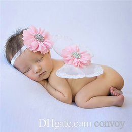 Angel Accessories online shopping - Fashion baby butterfly wings head flower photo set Hair Clips popular photography props baby angel wings Hair Accessories BAW05