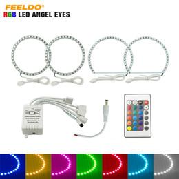 $enCountryForm.capitalKeyWord NZ - FEELDO Car RGB Multi-Color LED Angel Eyes Halo Ring Light Kit Wireless Remote Control For Mitsubishi Lancer (08-10) NON Projector #979