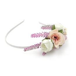 $enCountryForm.capitalKeyWord UK - Big Satin Flower Pearls Plastic hair Sticks Headband DIY Headband For Kids Girls Women Headband Hair Accessories KIDOCHEESE