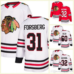 c24a59ce8 2018 Mens Chicago Blackhawks 32 Michal Rozsival 60 Collin Delia 30 Jeff  Glass 31 Anton Forsberg Hockey Jerseys Red White A C Patch