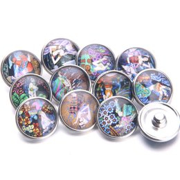 Wholesale 10pcs Chinese Classical Beauty Pattern Snap Button mm Jewelry Glass Buckle Women Bracelet Jewelry C0