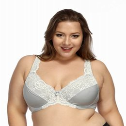 16c6fd0c050 Ultra thin cushion-free color lace sexy Full cup Bras for women Comfortable lingerie  plus size G cup large chest look small