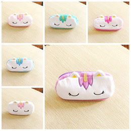 Girls school pencil baG new online shopping - New Cute Plush Unicorn Pencil Case School Pencil Cases Stationery Pencilcase Kawaii Bag boy Girls Coin Purse For School