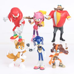 $enCountryForm.capitalKeyWord Australia - 6pcs   set Sonic The Hedgehog Figure Toy Classic Collector's Set 5-7cm Shadow Tails Knuckles PVC Action figure toy For gift