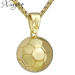 $enCountryForm.capitalKeyWord NZ - XINYAO Stainless Steel Football Pendant Necklace For Men Gold Soccer Ball Charm Necklace Sports Hip Hop Jewelry Dropshipping