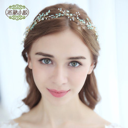 fairy style wedding dresses 2019 - New handmade crystal hair band   Bridal wedding jewelry   Europe and the United States wedding dress headdress more styl