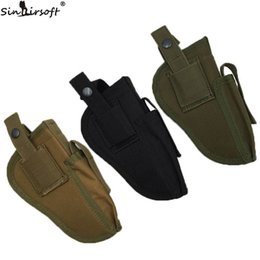 Multi Color Hand Bag Australia - SINAIRSOFT Tactical Universal Pistol Left Right Hand HandGun Waist Holster With Magazine Pouch Belt Clip Ambidextrou Bag EDC Holsters