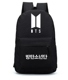 ec6c1b9a05d5 Bts Backpack Canada - Hot-selling new 2018 fashion Canvas Printing Backpack  BTS School Bag
