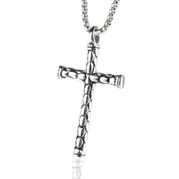 Pendant cross design for men online shopping - Fashion Men Charm Stainless Steel Cross Pendant Necklaces Punk High Quality Jewelry Design For Men cm Long Chain