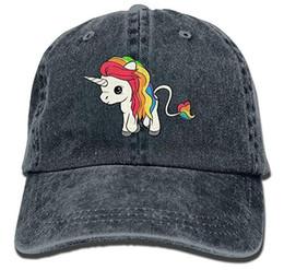 40bcdb334af Rainbow Unicorn Adult Cowboy Hat Baseball Cap Adjustable Athletic  Customizable Sports Hat for Men and Women