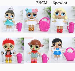 pokemon toys 2019 - 7.5CM LoL Doll with feeding bottle American PVC Kawaii Children Toys 6Pcs Lot Anime Action Figures Realistic Reborn Doll