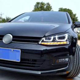 Carmonsons 2 Adet / grup Farlar Kaş Göz Kapakları ABS Krom Trim Kapak Volkswagen VW Golf 7 için MK7 GTI R Rline Araba Styling indirimde
