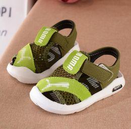 Discount sandal kids brand - 2018 Summer mesh kids beach shoes brand closed toe toddler boys sandals orthopedic sport baby boy sandals shoes childern