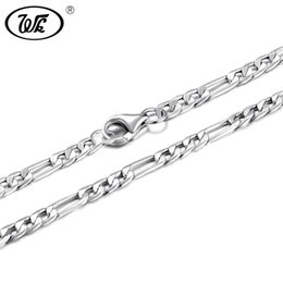 $enCountryForm.capitalKeyWord Australia - WK 50CM-75CM 3MM 925 Sterling Silver Figaro Chain Men Male Mens Silver Necklace Chains Jewelry 20 22 24 26 28 30 Inch 2018 NM021 Y18102910