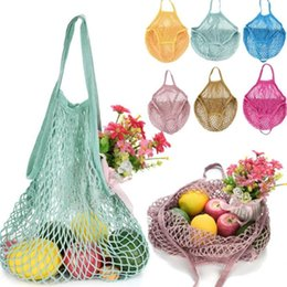 $enCountryForm.capitalKeyWord NZ - Eco-friendly Shopping Bags Fruit Vegetables Foldable Mesh Net String Cotton Shoulder Bag Hand Totes For Kitchen Sundries FHH7-1204