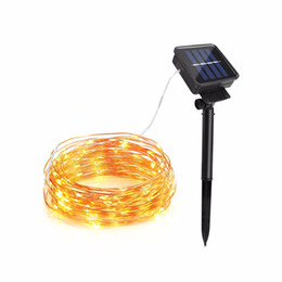 Wired Lights UK - 10M 20M Copper Wire Solar LED String lamp Fairy Holiday light Strip Decor Garden Lawn Wedding X'mas Party Ambiance light