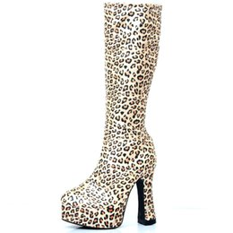 49823ee99030 fashion sexy knight female high heel platform boots for women autumn winter  shoes woman black pole dancing boots mid calf custom