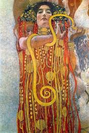 $enCountryForm.capitalKeyWord NZ - Hygeia by Gustav Klimt,Repro High Quality Handpainted  HD Print Portraits Art Oil Painting On Canvas Multi Custom Size  Frame Kl024