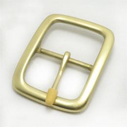 Brass Needles Australia - Meetee 4.0cm*5.6 cm brass men belt buckles for 39mm wide belt pin type belt buckles sale YD015